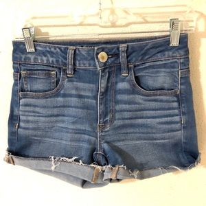 AEO Hi Rise Shortie Denim Shorts Size 2